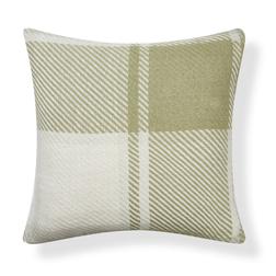 Квадратная декоративная подушка в зеленую и бежевую клетку DYLAN CUSHION 50*50 (Hedgerow)