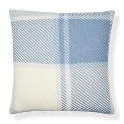 Квадратная декоративная подушка в белую и синюю клетку DYLAN CUSHION 50*50 (Seaspray)