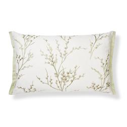 Декоративная подушка с вышивкой светло-зеленого цвета PUSSY WILLOW 40*60 (Hedgerow)