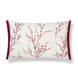 Декоративная подушка с вышивкой бордового цвета PUSSY WILLOW 40*60 (Cranberry)