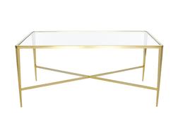 Кофейный столик из металла и стекла VENEZIA COFFEE TABLE  50*110*60 (Gold)