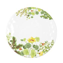 Красивая тарелка с рисунком цветов и зелени LIVING WALL PLATE Ø28 (Multi)