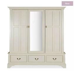 Большой шкаф для одежды CLIFTON 3 DOOR WARDROBE 200*181*61 (Ivory)