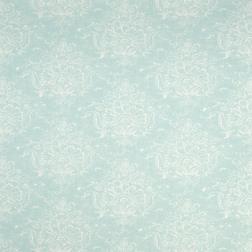 Роскошные обои с крупным рисунком голубого цвета MADDOX (Duck Egg)