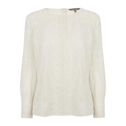 Блуза с кружевом цвета слоновой кости BL 219