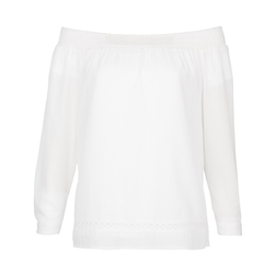 Белая блуза с открытыми плечами BL 260