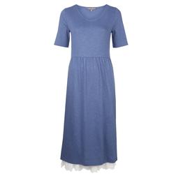 Платье в стиле Кантри, голубого цвета с кружевом MD 614
