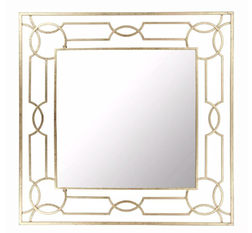 Зеркало в элегантной металлической раме HARLOW 90*90 (Gold)