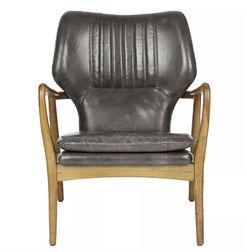 Стильное и удобное кожаное кресло WHITWORTH 88*69*69 (Charcoal)