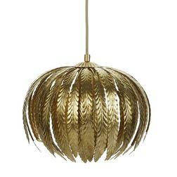 Круглая люстра из металлических листочков LISBETH LEAF Ø34 (Gold)