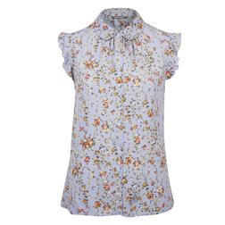 Нежно-фиолетовая блуза с принтом цветов BL 190
