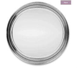 Круглое зеркало в раме серебристого цвета RILEY Ø55 (Steel)