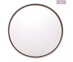 Зеркало в тонкой деревянной раме CLARK Ø53 (Dark Chestnut)