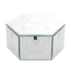 Шестиугольная зеркальная шкатулка JOSETTE HEXAGONAL JEWELLERY BOX 9*22*18 (Mirror)