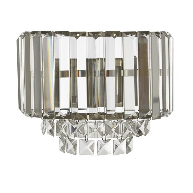 Настенное бра из стекла и металла бронзового цвета VIENNA WALL 17*22,5 (Clear/Antique Brass)