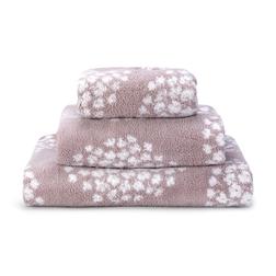 Большое банное полотенце лилового цвета с цветочным принтом COCO 100*150 (Amethyst)