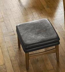 Стильный и удобный кожаный пуфик WHITWORTH 32*42*50 (Charcoal)