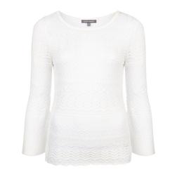 Кружевной пуловер белого цвета с рукавом 3/4 JP 711