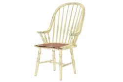 Деревянный стул с подлокотниками кремового цвета BRAMLEY CARVER CHAIR 106*60*70 (Cream)