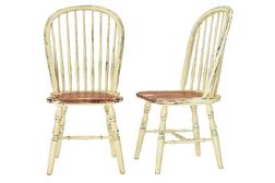 Пара обеденных деревянных стульев BRAMLEY Pair DINING 100*52*55 (Cream)