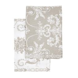 Набор кухонных полотенец с элегантным рисунком JOSETTE  2 TEA TOWELS 50*70 (Dove Grey)