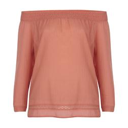 Блуза розового цвета с открытыми плечами BL 260