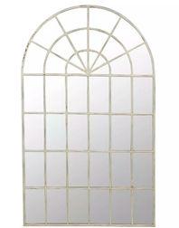 Большое арочное зеркало в форме окна TAMWORTH ARCHED 178*107*3,5 (White)