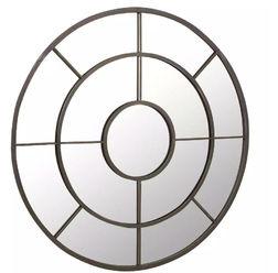 Круглое зеркало в форме окна MALORY Ø100 (Brown)