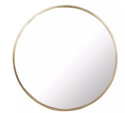 Зеркало круглой формы в раме золотистого цвета CONSTANCE Ø100 (Gold)