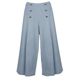 """Брюки-кюлоты голубого """"джинсового"""" цвета TR 403"""
