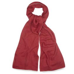 Длинный шарф красного цвета SH 761