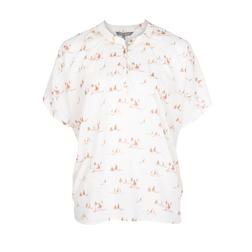 Блуза кремового цвета с принтом корабликов BL 232