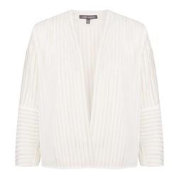Блуза-жакет кремового цвета с рукавом 3/4 CT 254