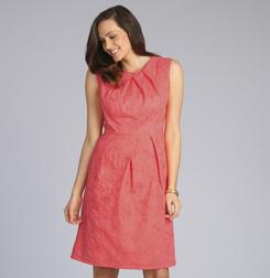 Легкое платье розового цвета с вышивкой MD 189
