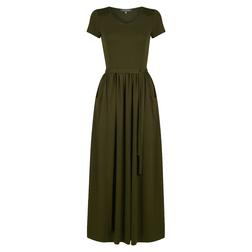 Платье зеленого цвета с коротким рукавом MD 874