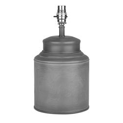 База для настольной лампы серо-серебристого цвета DIXON TEA CADDY 30*16,5 (Grey)
