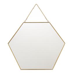 Шестиугольное зеркало на тонкой цепочке HEXAGONAL HANGING MIRROR Ø34,5 (Multi)