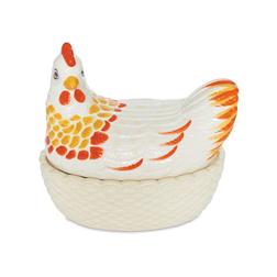 Керамический контейнер для яиц в форме курочки CHICKEN EGG STORAGE 15*15*22 (Multi)