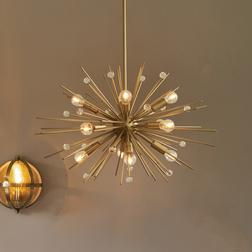 Люстра с большим количеством лампочек ASHWIN 60*70 (Gold)
