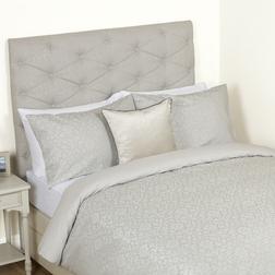 Большой набор постели с цветочным рисунком серебристого цвета ANNECY JACQUARD KG 230*220, 50*75