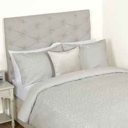 Одинарный набор постели с цветочным рисунком серебристого цвета ANNECY JACQUARD SG 137*200, 50*75