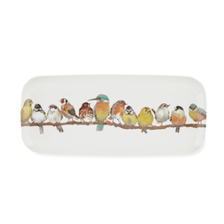Поднос с рисунком птиц GARDEN BIRDS SANDWICH TRAY 38*16,5 (Multi)