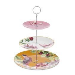 Красивая подставка для десертов и фруктов FLORAL HERITAGE 3 TIER CAKE STAND 35*27 (Multi)