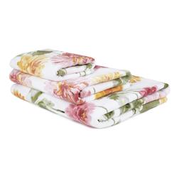 Большое банное полотенце в цветы георгины DAHLIA PARADE 100*150 (Multi)