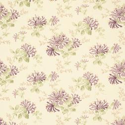 Гардинная ткань с рисунком фиолетового цвета HONEYSUCKLE TRAIL (Grape)