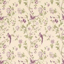 Гардинная ткань с птицами в фиолетовой гамме SUMMER PALACE (Grape)