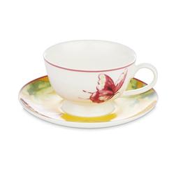 Чашка с блюдцем украшена рисунком бабочки FLORAL HERITAGE CUP & SAUCER 7*15,7*15,7 (Multi)
