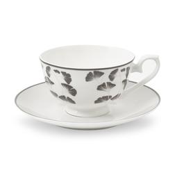 Фарфоровая чашка с блюдцем GEORGINA CUP AND SAUCER 7*15 (Grey)