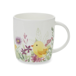 Фарфоровая чашка с рисунком цветов и цыпленка SPRING FLORALS 9*8,5 (Multi)