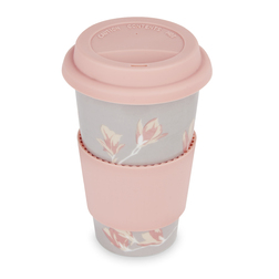 Стильная чашка с розовой крышкой PARK HOUSE COFFEE CUP 15*5*5 (Pink)